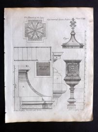 Langley 1777 Antique Architectural Print. Geometrical Square Pulpit 112
